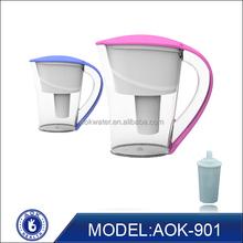 2015 hot sale AOK ceramic & glass water filter pitcher