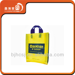 soft loop handle plastic bag for shipping packaging
