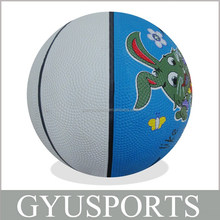 GY-D021 Hot Sale cheap price rubber colorful printing basketball