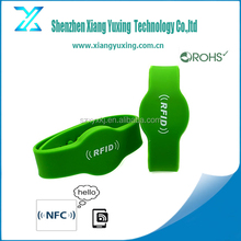 NFC adjustable Silicone Rubber Wristband manufacturer