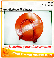 Silicone Rubber Heater 380v 1000w Diameter 390*1.5mm 3M adhesive 100k thermistor 1000mm lead wire