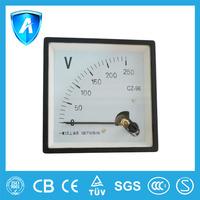 Electric analog AC/DC voltmeter