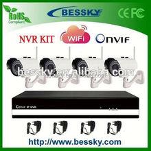 Bessky 4ch wireless camera NVR KIT,high-definition wifi indoor ip camera f980a,wifi external camera nvr