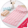 wholesale 100% cotton high quality pink stripe and grid soft children face towels