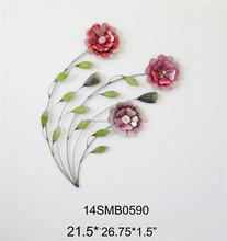 2015 Fuzhou Home Decoration Metal Iron decorative flowers arts metal home decor