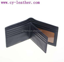 wholesale fashion high quality men black with leather wallet