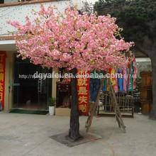 Venta caliente de la cereza artificial flor de árbol/falsos de flores de cerezo de árboles para
