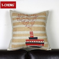 Creative Nostalgia Cushion Cover Car Pillow Chair Seat Pillow Cover beach cushion
