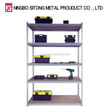 5 tier metal or MDF shelves warehouse angle iron rack