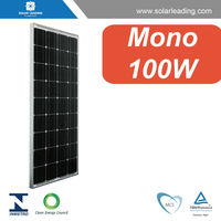 Hot sale 100w energy solar panel with aluminum frame for solar pv ground mounting system
