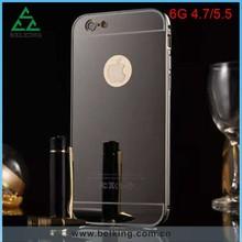Sliding Aluminum Case For iPhone 6 Plus, Mirror Phone Metal Case For iPhone 6 Plus, For iPhone 6 Plus Electronic Plated Case