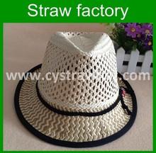 2015 Fashion Design Children's Fedora Paper Straw Hat