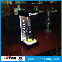 Lighting logos LED acrylic display stands for bottles