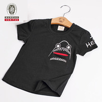 Kid clothes 2012 sharking tongue short sleeve kids wholesale clothes