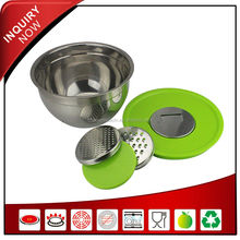 stainless steel colorful fruit salad bowl container with lid
