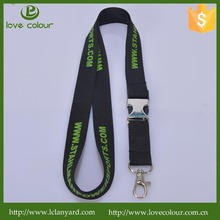 Promotional fabric silkscreen printing single custom lanyard