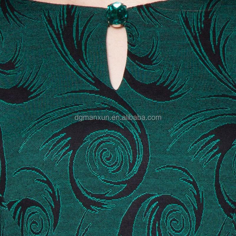 green printed peplum mermaid baju kurung  new arrival beautiful malaysia baju kurung