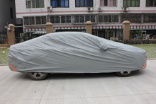 water proof silver cotton&nylon car cover extra thick made in china