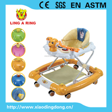 2015 baby walker with lovely dragon head and rubble stopper for european market