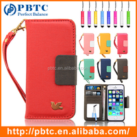 Wholesale Luxury Phone Wallet Leather Case For Iphone 5 / 5S , Wallet Cell Phone Case , Mobile Phone Wallet Case