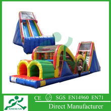 Hot selling inflatable obstacle course with blower