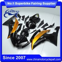 FFKYA011 Motorcycle ABS Fairing Kit For R6 1998-2002 Black and Gold