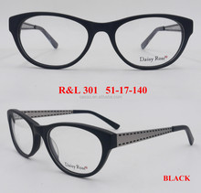 R&L 301 Acetate Full Rim Optical Eyewear Frames with Metal Threaded Legs