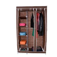 folding non-woven fabric bedroom sliding wardrobe