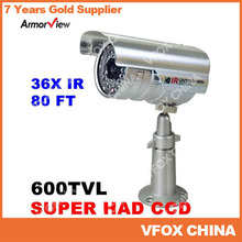 600TVL Weatherproof Outdoor 36 LED Bullet Camera SONY CCD IR Night Vision CCTV Surveillance Security Camera