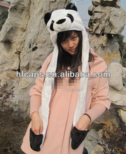 Plush animal winter hat wholesale faux fur animal hats with long paw