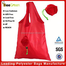 Rose flower design foldabel eco bag, eco friendly bag, eco shopping bag