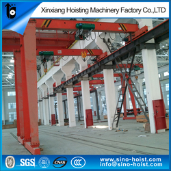 rail mounted a-frame portable gantry crane price,5 ton 10 ton used single girder gantry crane china manufacturer
