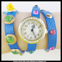 2014 vogue special led wrap cross watch bracelet ladies wrist watch(WJ-1697)
