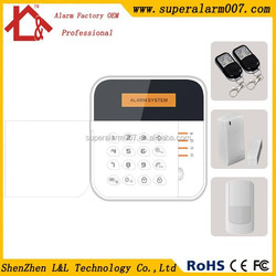 Cheap Burglar GSM Alarm System/Wireless GSM Alarm With LCD display and camera