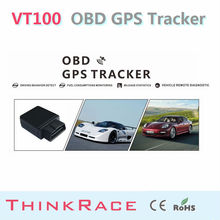 Cheap and Stable OBD tracking system gps gps tracker VT100 with Quad band GSM/GPRSOBD2 by Thinkrace