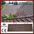 Espesor 0.4mm baldosas de madera recubierto de arena tejas para techos de precios