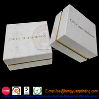 Special paper custom jewelry box with velvet lining