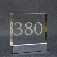 Acrylic hotel wall mounted hotel room number signs with screw