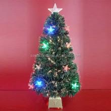Multicolored LED Star Decor PVC Fiber Optic Christmas Trees
