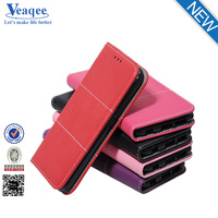 Veaqee manufacturer custom mobile phone wallet design flip pu leather case for samsung galaxy s6