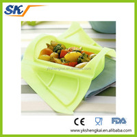 Easy cleaning Non-stick slicone food container with new design