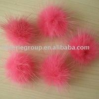 2.5CM - 4CM hihg quality pink mink fur ball (Fur Pom Poms)