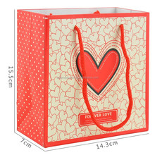 Foldable custom shopping paper bag with handle