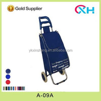 Folding Compact Oxford Fabric/ Satin Shopping Trolley Shopping cart A-09 with EVA wheel
