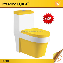 2015 one piece S-trap 250mm colored toilet