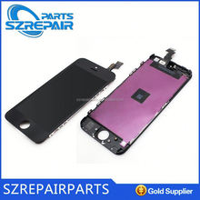 Free shipment!!!lcd screens touch digitizer for iPhone 5S, glass+frame+display for iPhone 5S