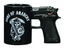 New Bone China Gun Handle Ceramic Coffee Mugs