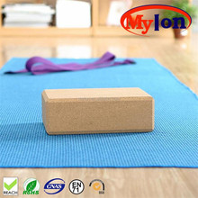 organic cork yoga block in nature quality standard size strong and hard
