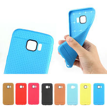 assorted color Net soft TPU case for Samsung S6 edge