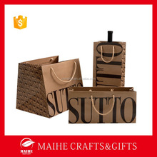 Fashion Paper Wine Bag,Shopping Bags Paper,Decorate Brown Paper Bag Printing